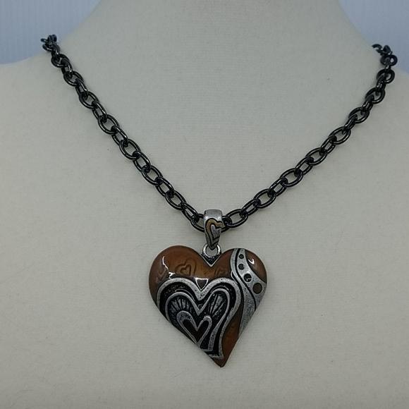 Jewelry - Funky Metal Heart Pendant